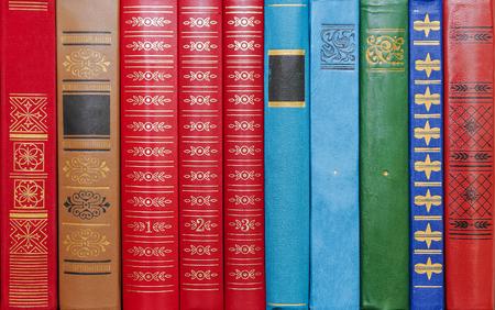 columna vertebral: encuadernaciones de libros de fondo