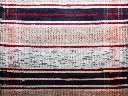homespun: textile background (homespun rug) Stock Photo