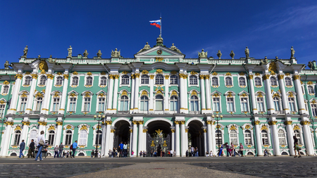 Hermitage on Palace Square in St. Petersburg, Russia 新聞圖片