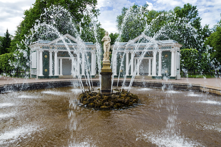 unesco: garden in Peterhof - the world heritage of UNESCO, Russia