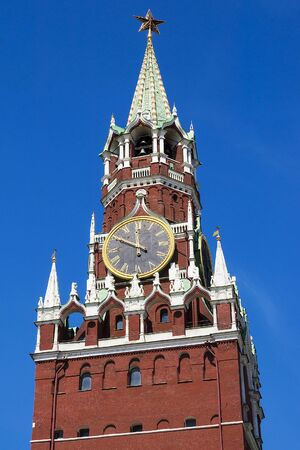 spasskaya: Spasskaya tower on Red Square in Moscow, Russia Editorial