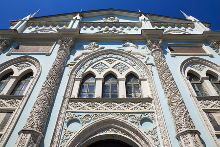 apartment tower old town: Historic building on Nikolskaya Street in Moscow Synod printing
