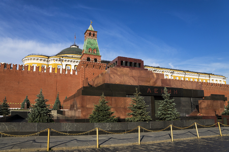 red square: Lenins Mausoleum on Red Square in Moscow