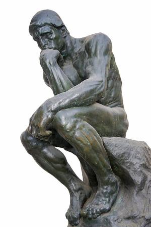 """""""The Thinker"""": una de las esculturas más famosas de Auguste Rodin Foto de archivo - 51201280"""
