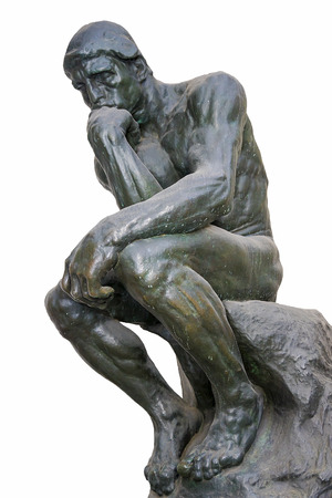 """""""The Thinker"""" - l'une des sculptures les plus célèbres d'Auguste Rodin"""