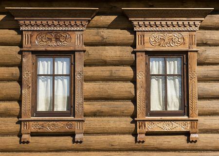 Holz geschnitzt trimmen russischen Hütte