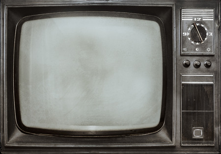 screen tv: Old vintage TV Stock Photo