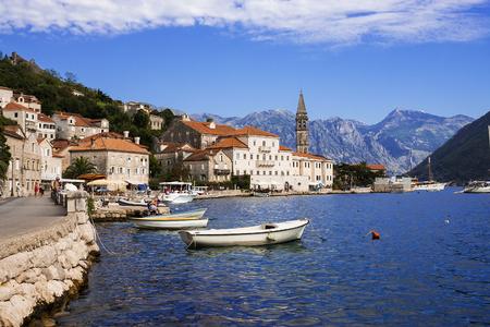 Perast, Montenegro의 산책 길 스톡 콘텐츠
