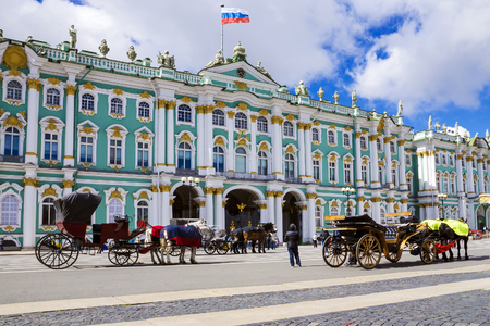 tourism in russia: The Hermitage in St. Petersburg, Russia