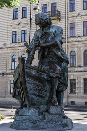 synod: Monument Peter I trained in the city Saardam shipbuilding in the Netherlands in 1697 opened in 1910 at the Admiralty Embankment in St. Petersburg Editorial