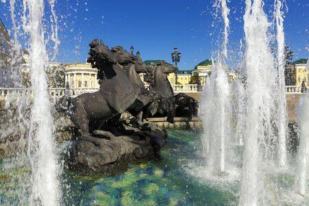 four season: Fountain of the Four Season, Moscow, Russia Stock Photo