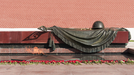 tomb of the unknown soldier: Tomb of the Unknown Soldier - Memorial architectural ensemble in Moscow, Alexandrovsky Garden near the Kremlin