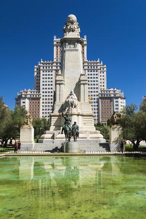 madrid  spain: Plaza of Spain in Madrid, Spain