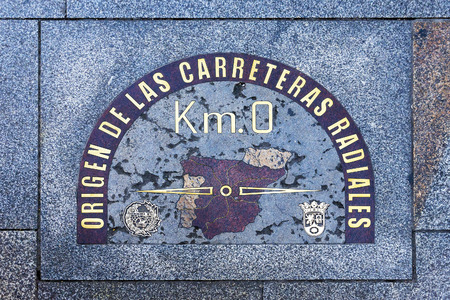 Kilometer Zero in Madrid, 스페인