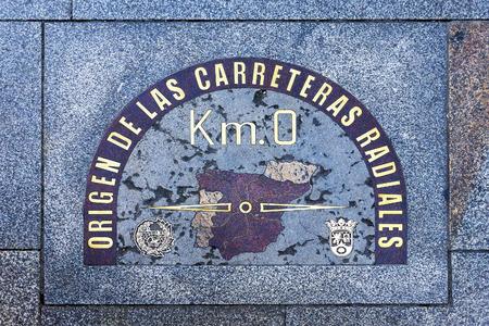 Kilometer Zero in Madrid, Spanje Stockfoto