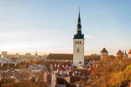 estonia: autumn morning in Tallinn, Estonia Stock Photo