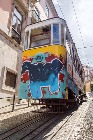 ascensor: tram lift in Lisbon, Portugal