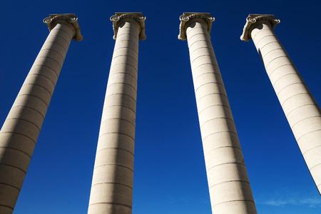 barsa: column in the square of Spain in Barcelona, Spain