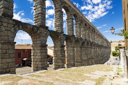 segovia: Roman aqueduct in Segovia, Spain
