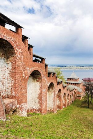 built in: Nizhny Novgorod Kremlin.It built in the year 1508-1515 Stock Photo