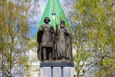 the founder: Monument to the founder of Nizhny Novgorod - George Vsevolodovich and Bishop Simon in the territory of the Nizhny Novgorod Kremlin. Russia