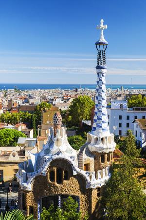 Park Guell, Barcelona 免版税图像
