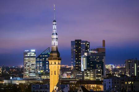 estonia: Night view of Tallinn, Estonia
