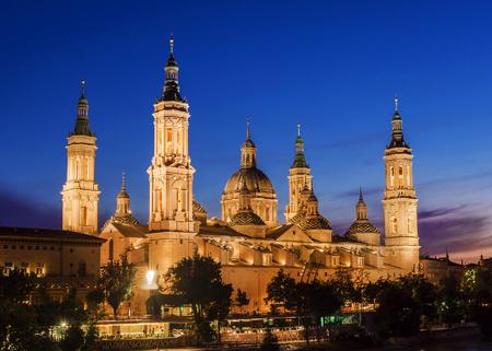 zaragoza: Cathedral in Zaragoza, Spain Stock Photo