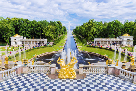 The Grand Cascade Fountain at Peterhof UNESCO World Heritage