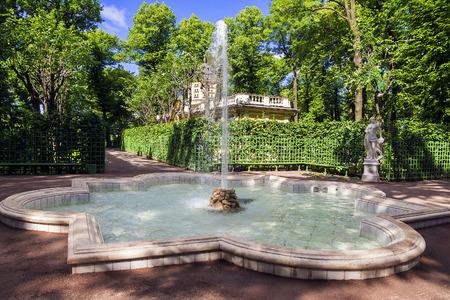 fountain in the Summer Garden in Saint-Petersburg, Russia