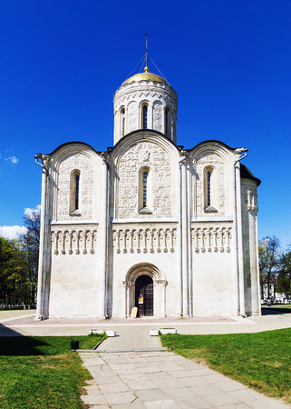 Demetrius Cathedral Vladimir. Founded 1194-1197 years. UNESCO World Heritage Stock Photo