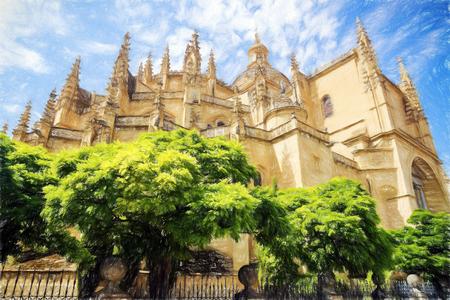 Segovia, Spain (Simulated pencil drawing)