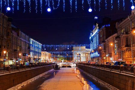 dom: Décorations de Noël à Saint-Pétersbourg, Russie Banque d'images