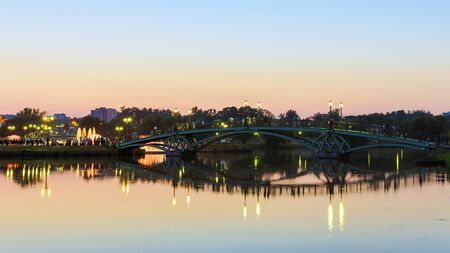 Arch bridge in Tsaritsyno. Moscow