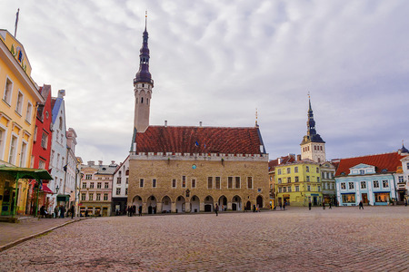town hall square: Town Hall Square in Tallinn