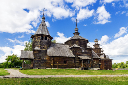 museum of wooden architecture in Suzdal. gold ring of Russia