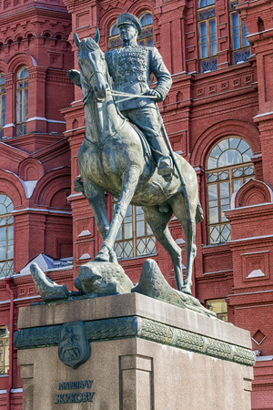 marshal: monument to Marshal Zhukov in Moscow