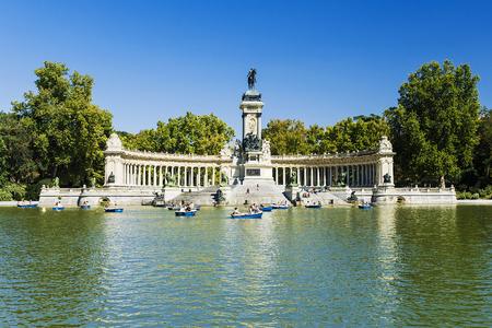 Parc du Retiro à Madrid, Espagne.  Banque d'images - 69193340