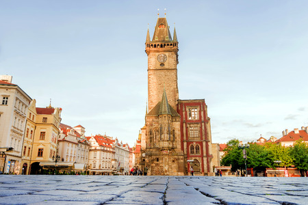 Town Square in Prague in the morning