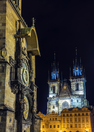 Astronomical Clock on Old Town Square in Prague, Czech Republic