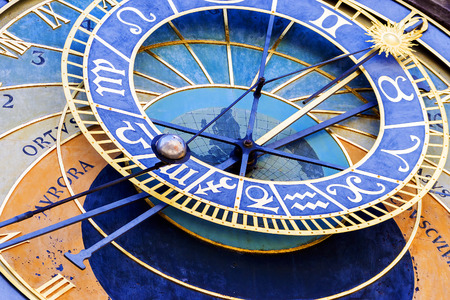 the dial of the astronomical clock in Prague