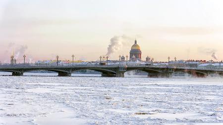 Annunciation bridge in St. Petersburg Stock Photo