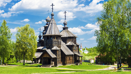 museum of wooden architecture in Suzdal, Golden Ring of Russia Editorial