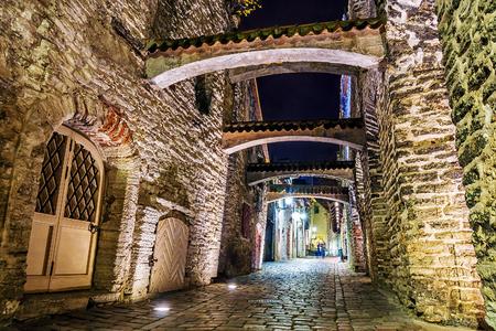 katherine: Old street in Tallinn at night, Estonia