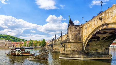 citytrip: Charles Bridge in Prague Editorial