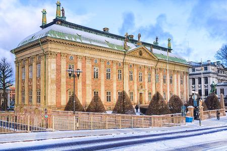 sweden in winter: winter streets of Stockholm, Sweden