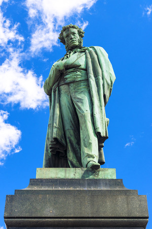 rhyme: a monument to Pushkin in Moscow
