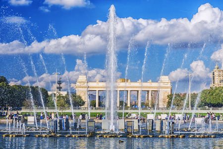 Gorkypark in Moskou, Rusland Stockfoto