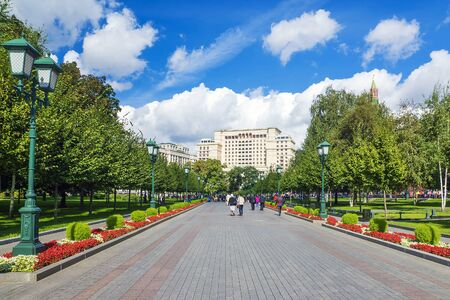 Alley Alexander Garden in Moscow, Russia Stock Photo