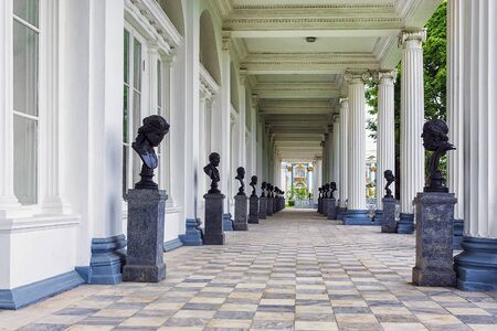 city pushkin: Cameron Gallery - a monument of architecture in the city Catherine Park Pushkin, near St. Petersburg.